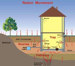Testing for radon gas